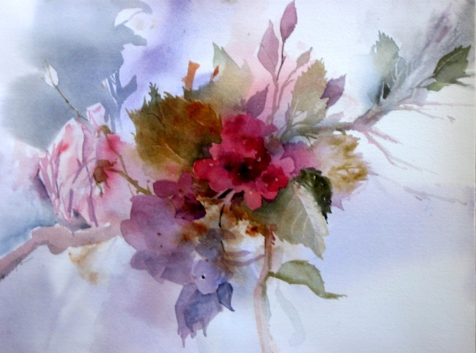 watercolor paintings of flowers. Dany#39;s Flowers. Watercolor